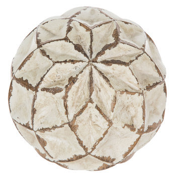 White & Tan Diamonds Decorative Sphere