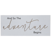 The Adventure Begins Wood Wall Decor