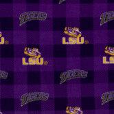 LSU Allover Collegiate Fleece Fabric