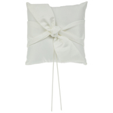 Ivory Satin Knot Ring Pillow