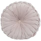 Blush Velvet Round Pillow