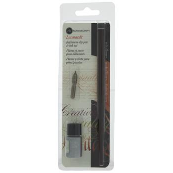 Silver Beginner's Calligraphy Dip Pen & Ink