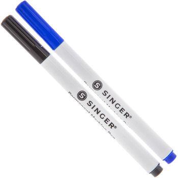 Black & Blue Permanent Fabric Pens - 2 Piece Set
