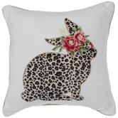 Leopard Print Bunny Pillow