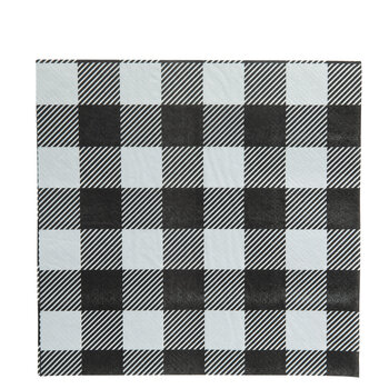 Black & White Buffalo Check Napkins
