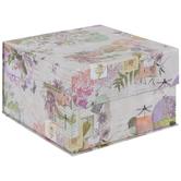 Floral Collage Square Box