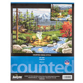 Camp Fire Counted Cross Stitch Kit