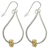 10K Gold Plated Beaded Teardrop Earrings