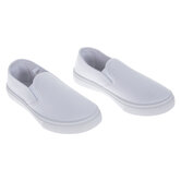 White Youth Slip-On Sneakers