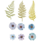 Blue Flower Embellishments