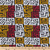 Red, White & Yellow Ankara Cotton Fabric
