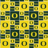 University Of Oregon Block Collegiate Cotton Fabric