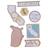 California Icons 3D Stickers