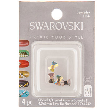 Bow Tie Swarovski Flatback Nail Crystals