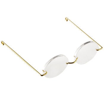 Oval Acrylic Doll Glasses