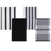 Assorted Black & White Kitchen Towels