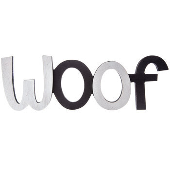 Woof Wood Wall Decor