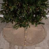 Burlap Button-Up Tree Skirt