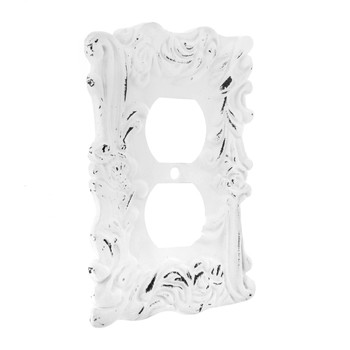 Distressed White Flourishing Metal Outlet Cover Hobby Lobby 1481530