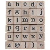 Lowercase Serif Alphabet Rubber Stamps