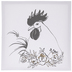 Rooster & Flowers Canvas Wall Decor