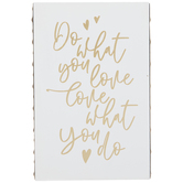 Do What You Love Wood Wall Decor