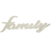 Family Wood Cutout