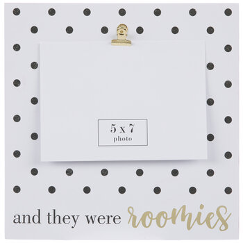 """They Were Roomies Wood Clip Frame - 5"""" x 7"""""""