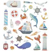 Boats & Shells Foil Stickers