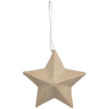 Paper Mache Flat Back Stars