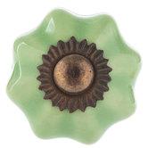 Light Green Scallop Knob