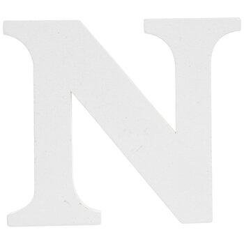 """White Wood Letter N - 3"""""""
