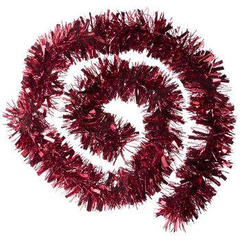 Red Tinsel Garland - 9'