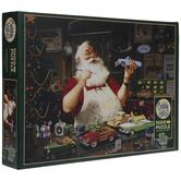 Santa Painting Cars Puzzle