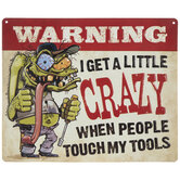 Crazy Tools Metal Sign
