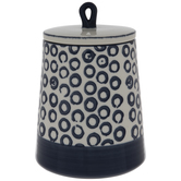 White & Blue Circles Canister