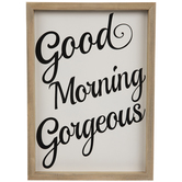 Good Morning Gorgeous Wood Wall Decor