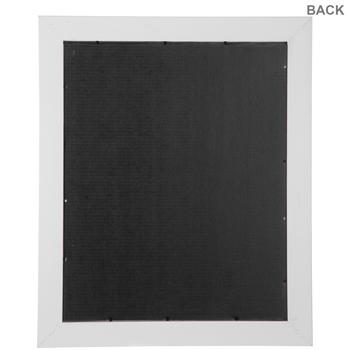 White Lipped Wood Wall Frame
