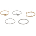 Arrow & Knot Rings - Size 7