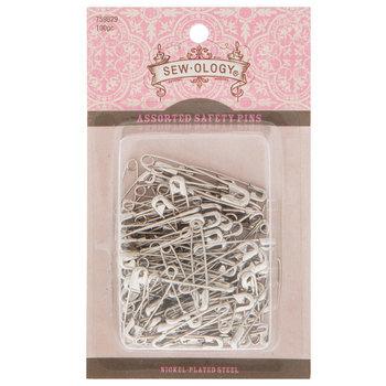 Assorted Nickel Safety Pins