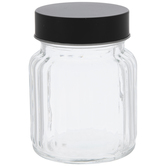 Ridged Glass Jar