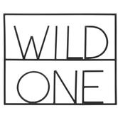 Wild One Metal Wall Decor