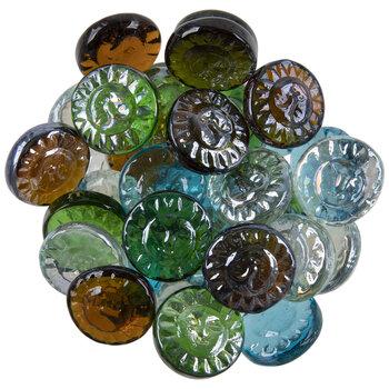 Sun Face Glass Mosaic Gems