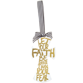 Let Your Faith Wood Cross