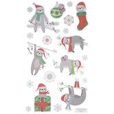 Christmas Sloth Stickers