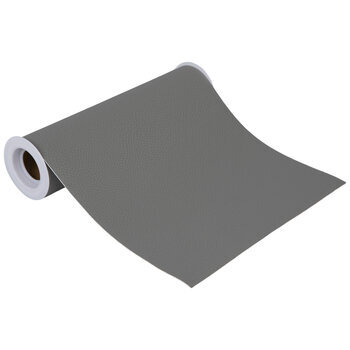 """Gray Faux Leather Wide Ribbon - 8"""""""