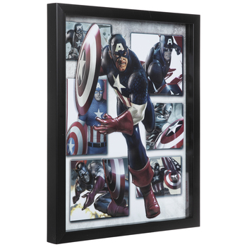 Captain America Collage Framed Wall Decor