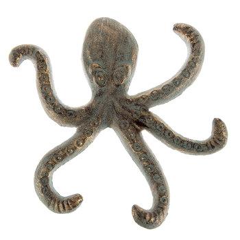 Bronze Patina Octopus Metal Wall Decor