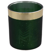 Green Tree Glass Candle Holder