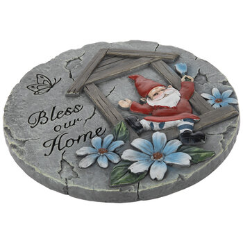 Bless Our Home Gnome Stepping Stone